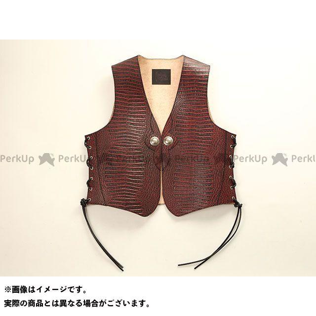 送料無料 DEGNER デグナー ジャケット 【特価品】 クロコダイル柄レザーベスト(レッド) XL