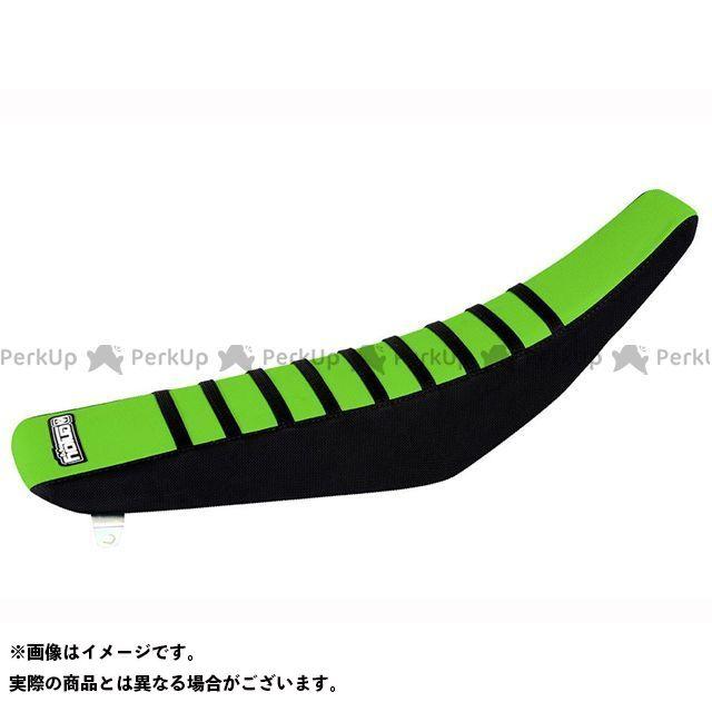 エンジョイMFG KX125 KX250 シートカバー Kawasaki サイド:黒/トップ:グリーン/リブ:黒