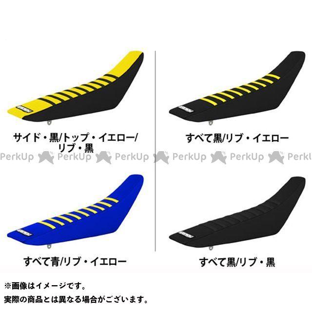 エンジョイMFG RM125 RM250 シートカバー Suzuki すべて:黒/リブ:黒
