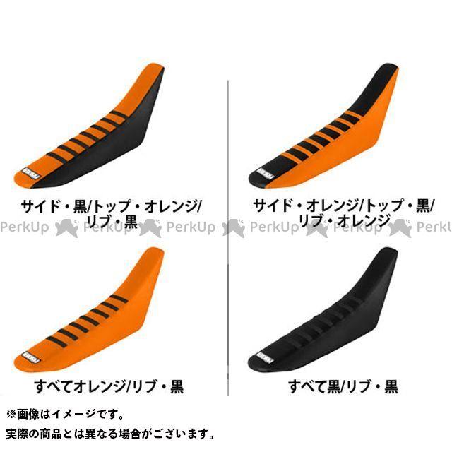 エンジョイMFG 50 SX シートカバー KTM サイド:黒/トップ:オレンジ/リブ:黒