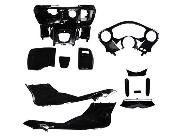 送料無料 バイクブロスバリュー フォルツァX フォルツァZ 外装セット フォルツァX/Z MF10 インナーカウルセット つやありブラック