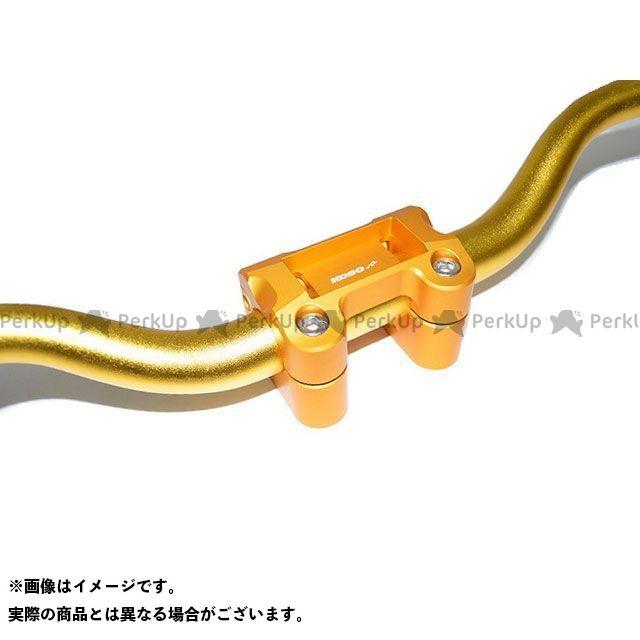 KOSO ビーウィズ125 ビーウィズ125X ハンドル周辺パーツ チューニングハンドルバーブラケット 28.6φファットバー付(ゴールド)