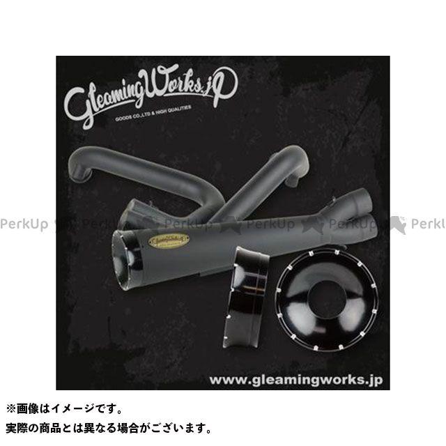 グリーミングワークス SUS バリトンマフラー2in1 for XL カラー:コントラスト 年式:2007-2013 GLEAMING WORKS