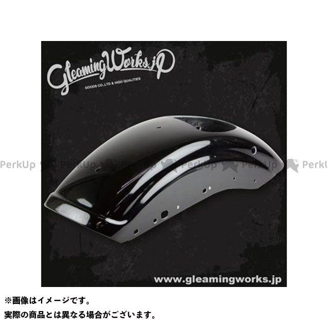 グリーミングワークス ショートリブフェンダー XL(07-09)サイドホール カラー:ウレタンツヤ有黒塗装 GLEAMING WORKS