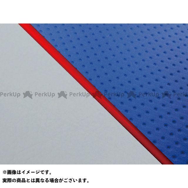 グロンドマン W650 W650(99年 EJ650A1/C1) グロンドマン国産シートカバー 張替(エンボスブルー/グレーライン) 仕様:赤パイピング Grondement
