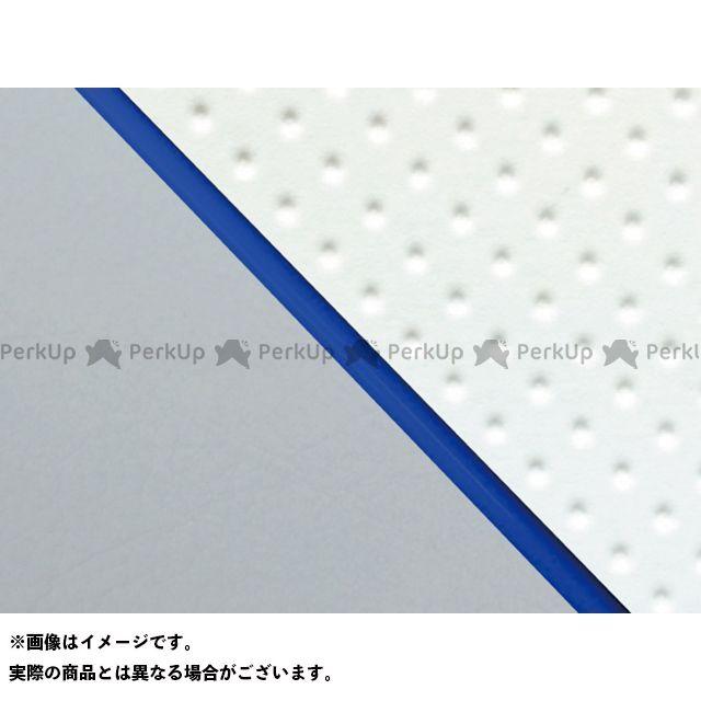 グロンドマン W650 W650(99年 EJ650A1/C1) グロンドマン国産シートカバー 張替(エンボスホワイト/グレーライン) 仕様:青パイピング Grondement