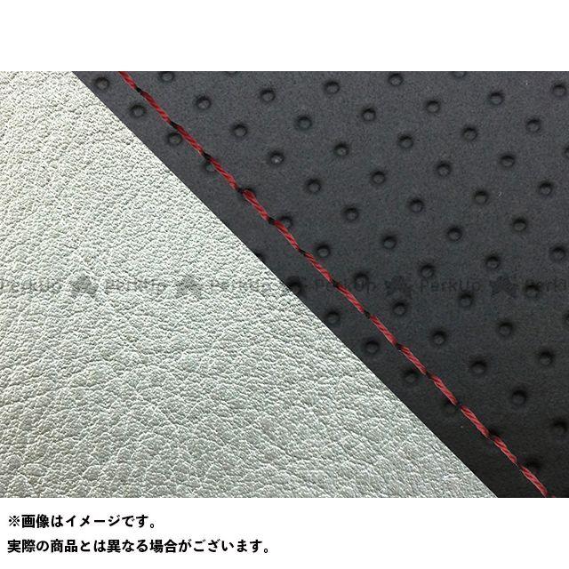 グロンドマン W650 W650(99年 EJ650A1/C1) グロンドマン国産シートカバー 張替(エンボス黒/シルバーライン) 仕様:赤ステッチ Grondement