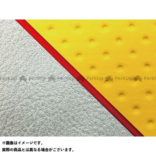 グロンドマン W650 W650(99年 EJ650A1/C1) グロンドマン国産シートカバー 張替(エンボスイエロー/シルバーライン) 仕様:赤パイピング Grondement