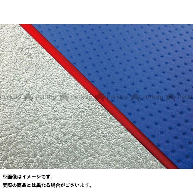 グロンドマン W650 W650(99年 EJ650A1/C1) グロンドマン国産シートカバー 張替(エンボスブルー/シルバーライン) 仕様:赤パイピング Grondement