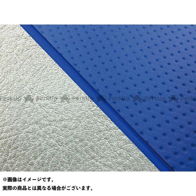 グロンドマン W650 W650(99年 EJ650A1/C1) グロンドマン国産シートカバー 張替(エンボスブルー/シルバーライン) 仕様:青パイピング Grondement