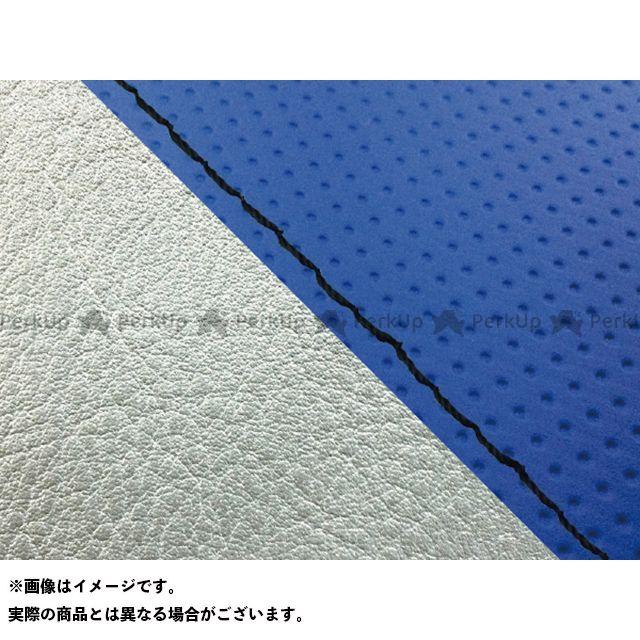 【エントリーで最大P23倍】グロンドマン W650 W650(99年 EJ650A1/C1) グロンドマン国産シートカバー 張替(エンボスブルー/シルバーライン) 仕様:黒ステッチ Grondement