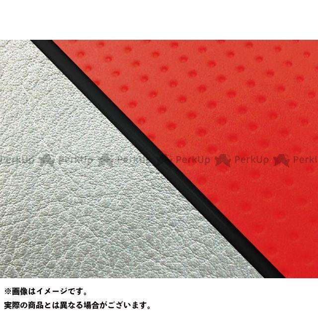 グロンドマン W650 W650(99年 EJ650A1/C1) グロンドマン国産シートカバー 張替(エンボスレッド/シルバーライン) 仕様:黒パイピング Grondement