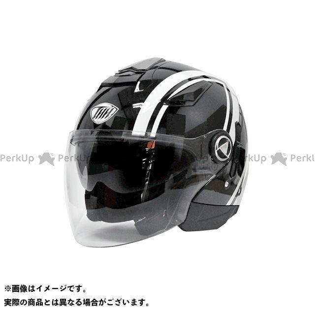 THH T-396 ジェットヘルメット(デーモン ブラック/ホワイト) XL ティーエイチエイチ