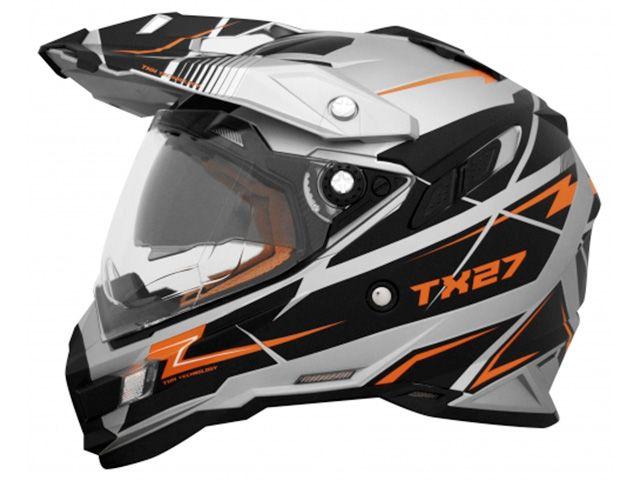 送料無料 THH ティーエイチエイチ オフロードヘルメット TX-27 オフロードヘルメット(トルーパー メタリックシルバーオレンジ) M