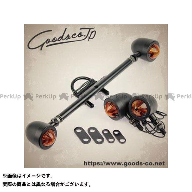 グッズ SR400 SR500 ダウンマウントウインカーキット スモールバレットBK/SR400/500 タイプ:ショート GOODS