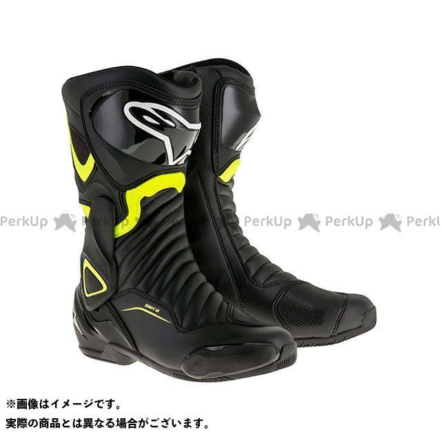 送料無料 Alpinestars アルパインスターズ レーシングブーツ SMX6 ブーツ(ブラック/イエローフロー) 41