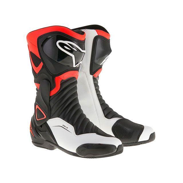 送料無料 Alpinestars アルパインスターズ レーシングブーツ SMX6 ブーツ(ブラック/レッドフロー/ホワイト) 40