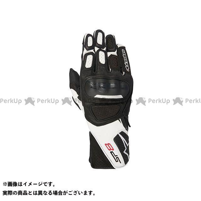 【エントリーで更にP5倍】Alpinestars SP-8 レザー グローブ(ブラック/ホワイト) サイズ:XL アルパインスターズ
