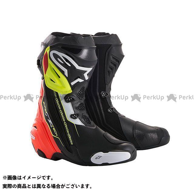 送料無料 Alpinestars アルパインスターズ レーシングブーツ スーパーテックR ブーツ(ブラック/レッド/イエローフロー) 39