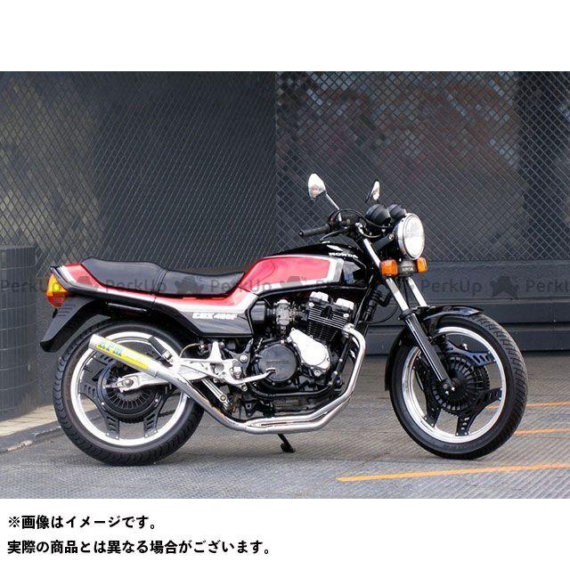 送料無料 RPM CBX400F マフラー本体 RPM 4in2in1 フルエキゾーストマフラー チタン