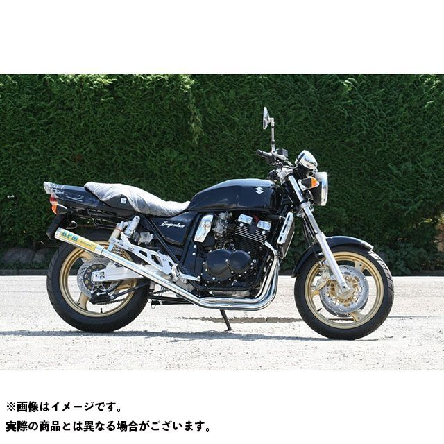 【無料雑誌付き】RPM GSX400インパルス RPM-67Racing フルエキゾーストマフラー サイレンサーカバー:チタン アールピーエム