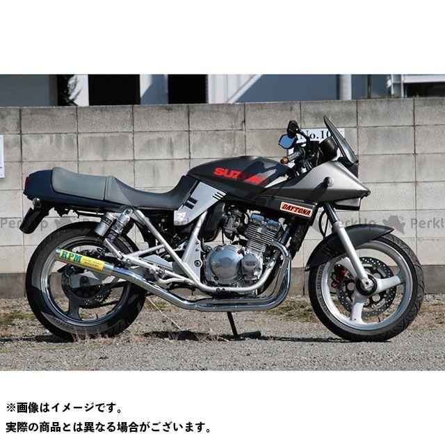 【無料雑誌付き】RPM GSX400Sカタナ RPM-67Racing フルエキゾーストマフラー サイレンサーカバー:チタン アールピーエム