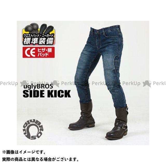 送料無料 uglyBROS アグリブロス パンツ MOTOPANTS SIDE KICK(Men's) ブルー 32インチ