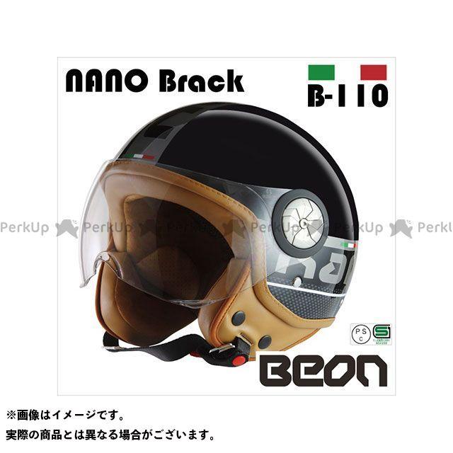 送料無料 Beon HELMETS ベオンヘルメット ジェットヘルメット スモールジェットヘルメット B110 NANO(ブラック) M