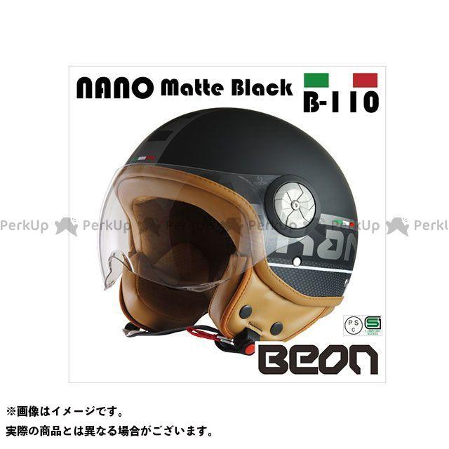 送料無料 Beon HELMETS ベオンヘルメット ジェットヘルメット スモールジェットヘルメット B110 NANO(マッドブラック) L