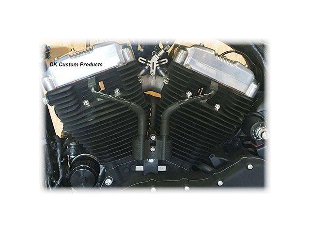 DKカスタム DK Custom その他電装パーツ イグニッション Vコイル移設、プラグコードキット 2007以降スポーツスター用 ブラック