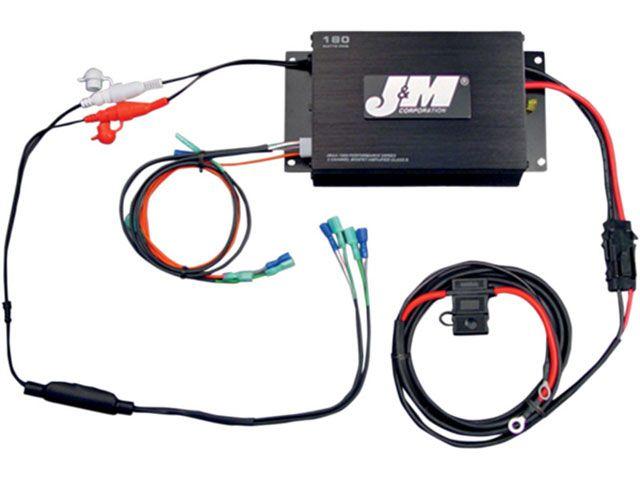 J&M FLHT エレクトラグライド FLHX ストリートグライド FLTR ロードグライド その他電装パーツ ROKKER シリーズ 180w 2chアンプキット