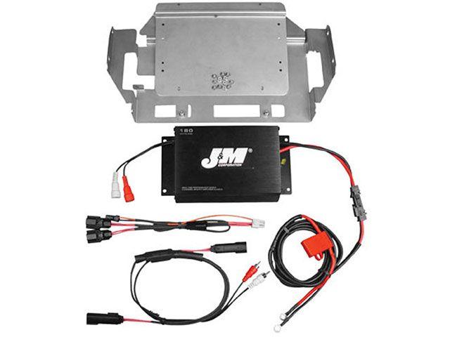 J&M FLHT エレクトラグライド FLHX ストリートグライド その他電装パーツ ROKKER シリーズ 180w 2chアンプキット