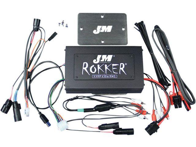 送料無料 J&M FLTRU ロードグライドウルトラ FLTRX ロードグライド FLTRXS ロードグライドスペシャル その他電装パーツ ROKKER シリーズ 630w 4chアンプ インストールキット