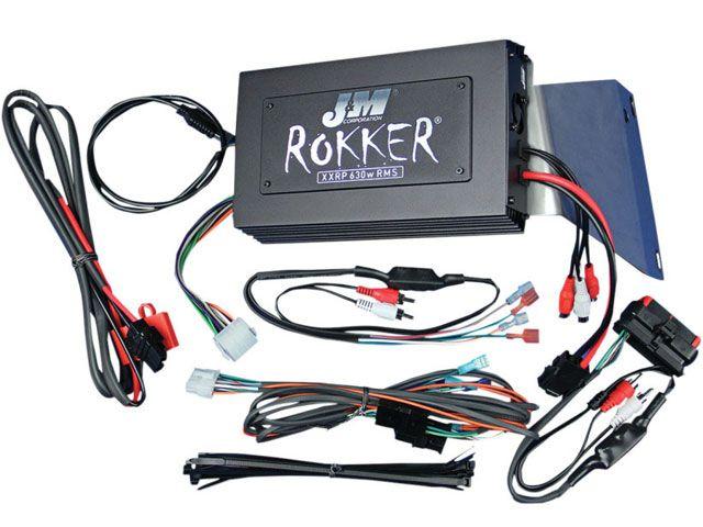 J&M FLTR ロードグライド FLTRX ロードグライド その他電装パーツ ROKKER シリーズ 630w 4chアンプキット