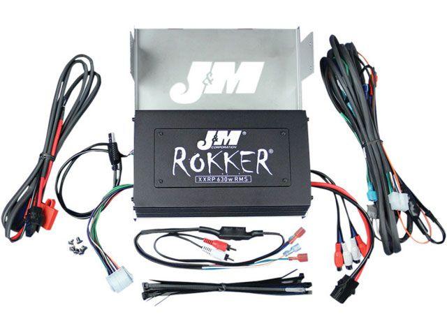 J&M FLHTCU エレクトラグライドウルトラクラシック その他電装パーツ ROKKER シリーズ 630w 4chアンプキット
