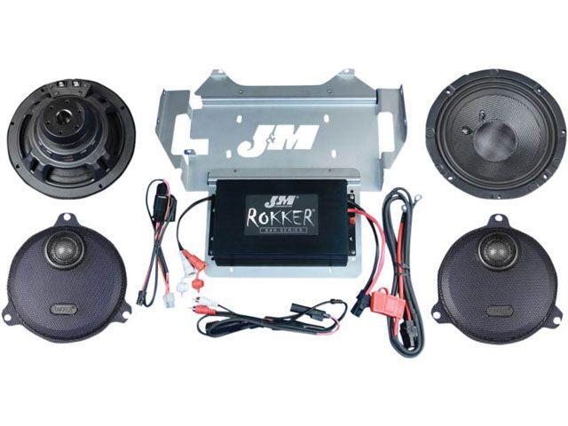 J&M FLHT エレクトラグライド その他電装パーツ ROKKER 330W 2スピーカー アンプキット