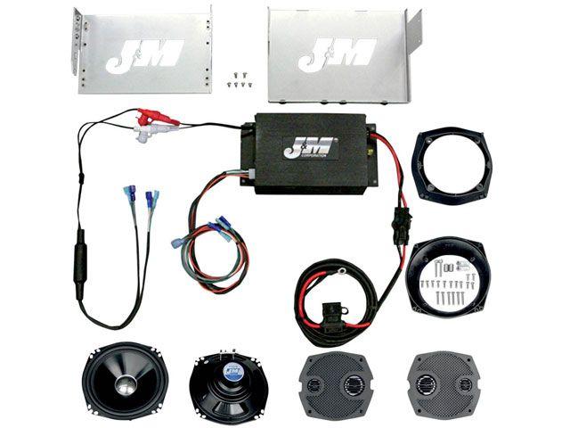 J&M FLHX ストリートグライド その他電装パーツ PERFORMANCE 180W フェアリングスピーカー アンプキット