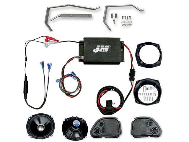 J&M FLTR ロードグライド FLTRU ロードグライドウルトラ FLTRX ロードグライド その他電装パーツ PERFORMANCE 180W フェアリングスピーカー アンプキット