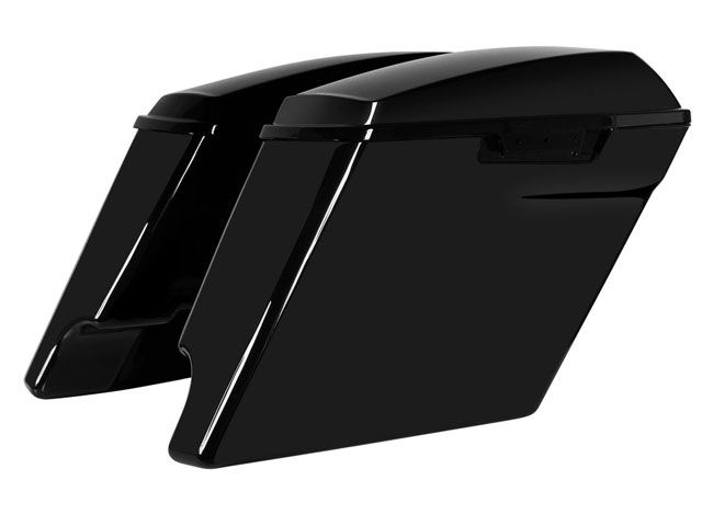 送料無料 ホグワークズ HOGWORKZ ツーリング用ボックス 4インチエクステンド・サドルバッグ(グロスブラック)
