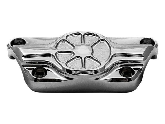 送料無料 LAチョッパーズ ハーレー汎用 ハンドル周辺パーツ Fusion トップクランプ 1-1/4インチ アーティスティック(クローム)