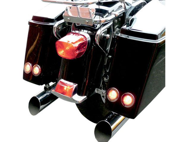 送料無料 サドルマン ハーレー汎用 ホーン・電飾・オーディオ LED サドルバッグマーカーライトキット(ブラック/アンバー)