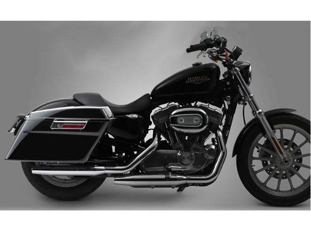 Krator NEW Black Hand Levers Skull Cross Grooved Emblems For Harley Davidson Sportster 883L XL883L 2006-2009