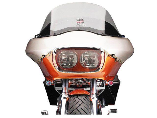 サイクルビジョン FLTR ロードグライド FLTRX ロードグライド 電装ステー・カバー類 ヘッドライトベゼルカバー(クローム/クリアレンズ)