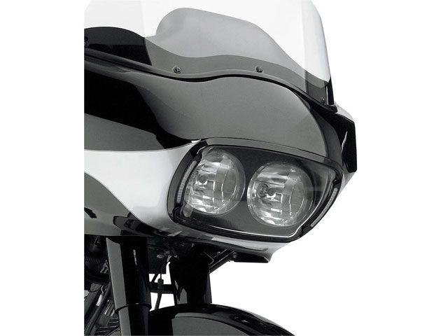 送料無料 サイクルビジョン FLTR ロードグライド FLTRX ロードグライド 電装ステー・カバー類 ヘッドライトベゼルカバー(ブラック/クリアレンズ)