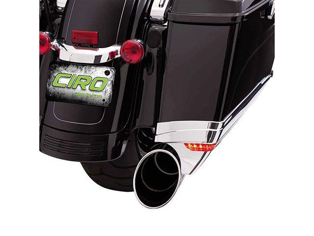 送料無料 シロ CIRO その他外装関連パーツ LEDライト サドルバッグエクステンション クローム
