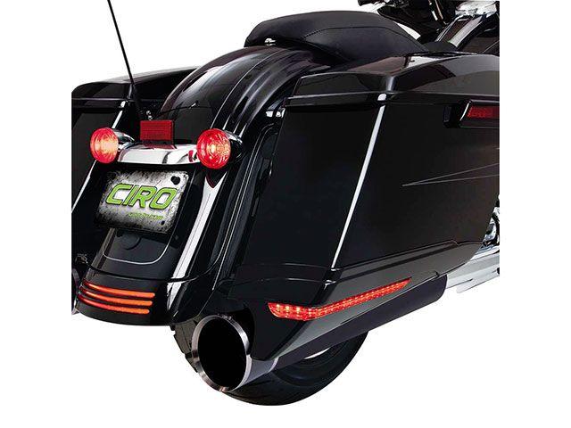 送料無料 シロ CIRO その他外装関連パーツ LEDライト サドルバッグエクステンション ブラック