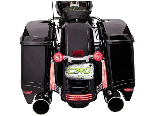シロ CIRO 電装ステー・カバー類 フィラーパネルライト 2006-2009 FLHX/S、FLTRX/S クローム