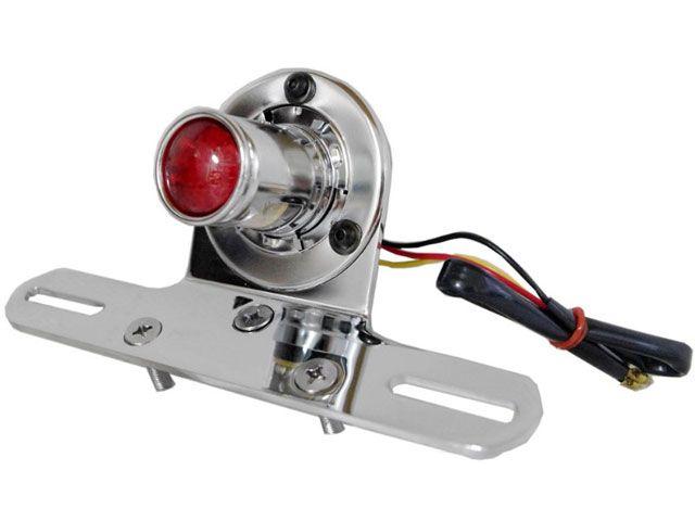 送料無料 ハイウェイホーク ハーレー汎用 テール関連パーツ Shotgun LEDテールライト(クローム)
