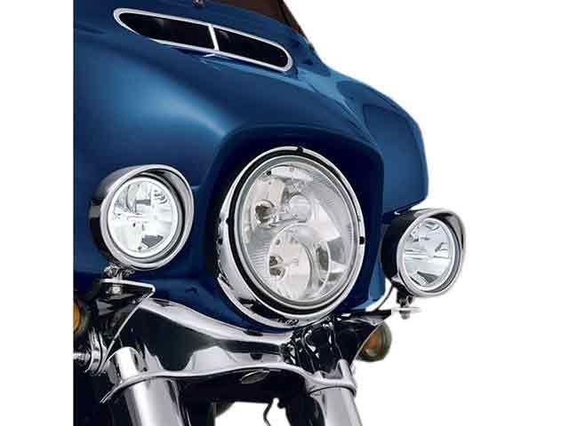 送料無料 ビッグバイクパーツ その他FL ヘッドライト・バルブ 3.5インチ ドライビングライトキット(クローム)