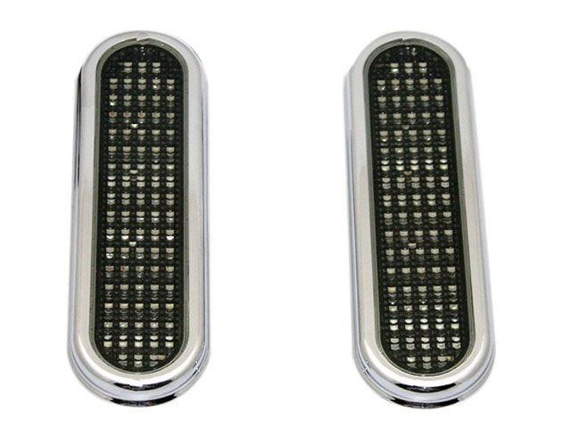 カスタムダイナミクス ハーレー汎用 ホーン・電飾・オーディオ FLATZ LED アクセントライト(スモークレンズ/クローム)